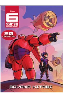 6 Süper Kahraman çıkartmalı Boyama Kitabı Ilhan Akşit